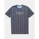 RSQ Paris Vert Striped Mens T-Shirt