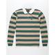 BRIXTON Rugby Richland Khaki Mens Polo Shirt