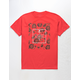 LA FAMILIA Core Rose Red Mens T-Shirt