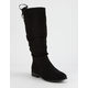 CITY CLASSIFIED Slouch Calf Black Womens Boots