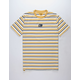 ALPHANUMERIC Stripe Yellow Mens T-Shirt