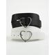 FULL TILT 2 Pack Heart Buckle Belts