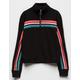 FULL TILT Half Zip Rainbow Stripe Girls Sweatshirt