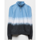 FULL TILT Dip Dye Half Zip Blue Girls Sweatshirt