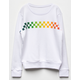 FULL TILT Rainbow Checker Girls Sweatshirt