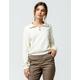 FULL TILT Half Zip Off White Womens Crop Sweatshirt