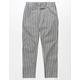 WHITE FAWN Gray Stripe Girls Crop Pants