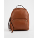 VIOLET RAY Tanya Studded Cognac Mini Backpack