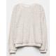 WHITE FAWN Sherpa Taupe Girls Sweatshirt