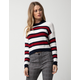 SAY WHAT? Stripe White Womens Crop Sweater