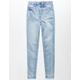RSQ LA Super High Rise Light Wash Girls Skinny Jeans