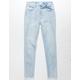 RSQ Cali High Rise Crop Light Wash Girls Skinny Jeans