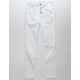 RSQ Cali High Rise Exposed Button Crop White Girls Skinny Jeans
