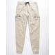 CHARLES AND A HALF Zip Pocket Khaki Mens Cargo Pants