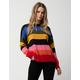 TIMING Rainbow Stripe Womens Sweater