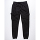 UNCLE RALPH Brush French Terry Black Mens Jogger Pants