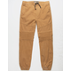 BROOKLYN CLOTH Moto Twill Tobacco Boys Jogger Pants