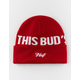 HUF x Budweiser This Bud's For You Red Mens Beanie