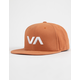 RVCA VA II Brick Red Mens Snapback Hat