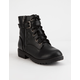 SODA Side Zip Girls Combat Boots