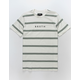 BRIXTON Striped Off White Mens T-Shirt