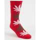 HUF Plantlife Glowflake Red Mens Crew Socks