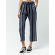 SKY AND SPARROW Stripe Tie Front Womens Pants