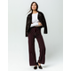 SKY AND SPARROW Pocket Front Stripe Womens Wide Leg Pants
