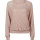FULL TILT Lace Overlay Womens Sweatshirt
