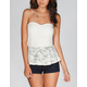 FULL TILT Lace Womens Peplum Tube Top