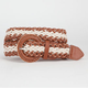 2 Tone Braided Faux Leather Womens Belt