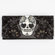 LOUNGEFLY Paisley Flocked Skull Wallet