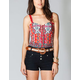 FULL TILT Ethnic Print Womens Corset Top