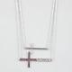 FULL TILT 2 Row Side Cross Necklace