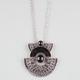 FULL TILT Textured Tribal Fan Pendant Necklace