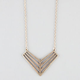 FULL TILT Cutout Chevron Pendant Necklace