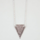 FULL TILT Textured Zig Zag Triangle Pendant Necklace