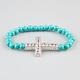 FULL TILT Turquoise Beaded Cross Bracelet