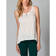 FULL TILT Lace Inset Womens Open Back Top