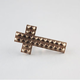 FULL TILT Pyramid Stud Cross Two Finger Ring