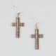 FULL TILT Textured Ethnic Cross Earrings