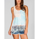 FULL TILT Tropical Fringe Womens Tank