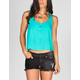 FULL TILT Open Back Womens Henley Tank