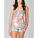 FULL TILT Screen Stripe Womens Cami
