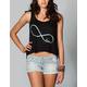 FULL TILT Infinite Love Womens Bar Back Top