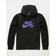 NIKE SB Icon Black & Blue Mens Hoodie