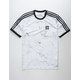ADIDAS Marble AOP Club White Mens Ringer Tee