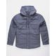 BRIXTON Cass Blue Mens Hooded Jacket