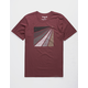 HURLEY Prism Burst Maroon Mens T-Shirt