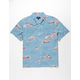 BRIXTON Lovitz Blue Mens Shirt